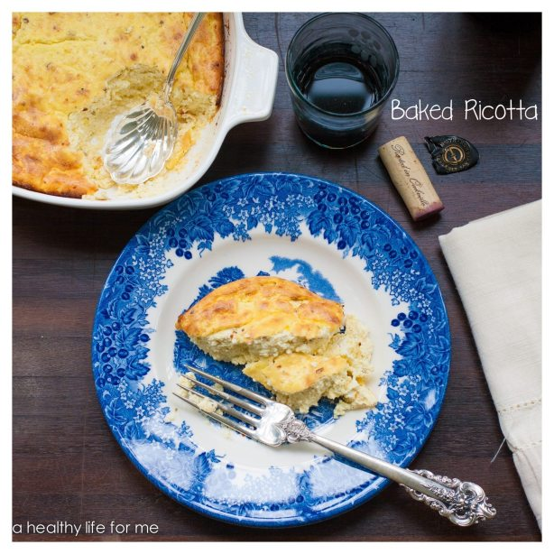 Baked Ricotta side dish meatless monday