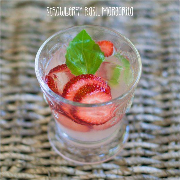 Strawberry Basil Margarita Recipe | Margarita Day Cocktail Round Up