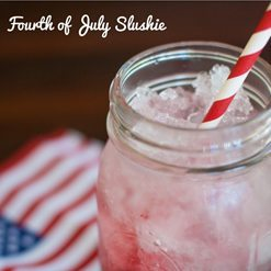 Fourth of July Slushie Cocktail