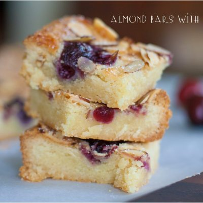 Almond Bars with Cherries