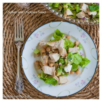 Chicken Chickpea Salad with Lemon Vinaigrette