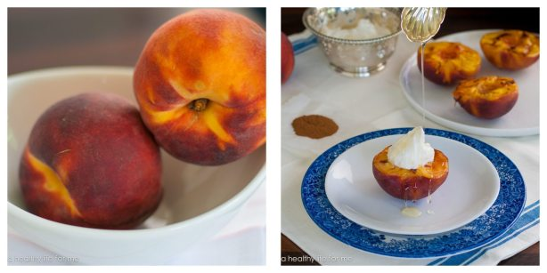 Healthy Dessert with Summer Peaches