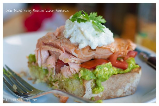 Honey Bourbon Glaze Feta Aioli Salmon Tomato Avocado Superfood Healthy