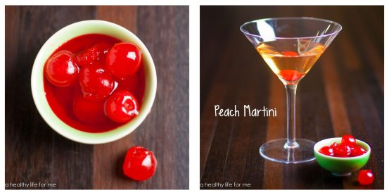 Peach Vodka Chambord Cherries SImple Syrup