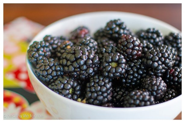 Fresh Blackberries straight from the garden