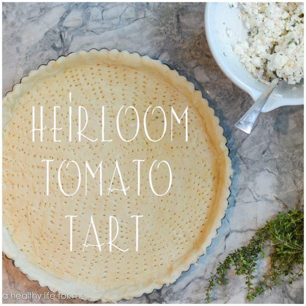 Heriloom Tomato Tart Reciope | ahealthylifeforme.com