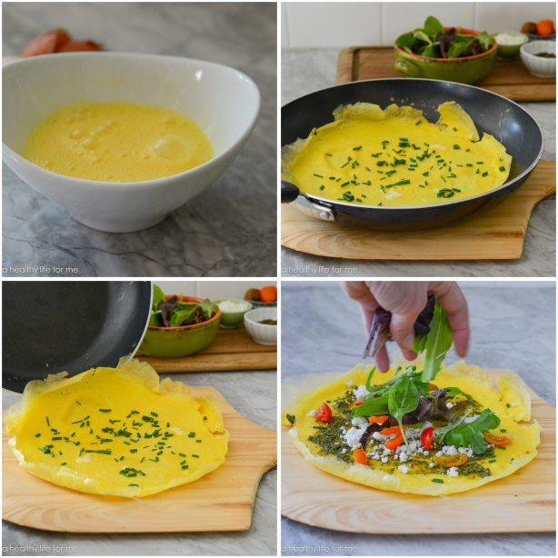 Omelet in 10 minutes or less