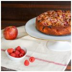 Apple Raspberry Almond Cake Recipe | ahealthylifeforme.com