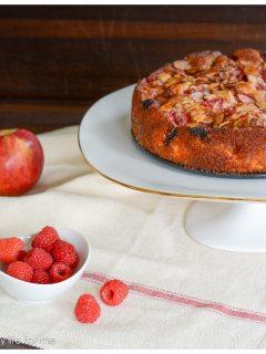 Apple Raspberry Almond Cake
