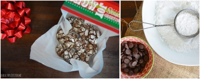 Chocolate Peppermint Crinkle Cookies for Great Cookie Swap