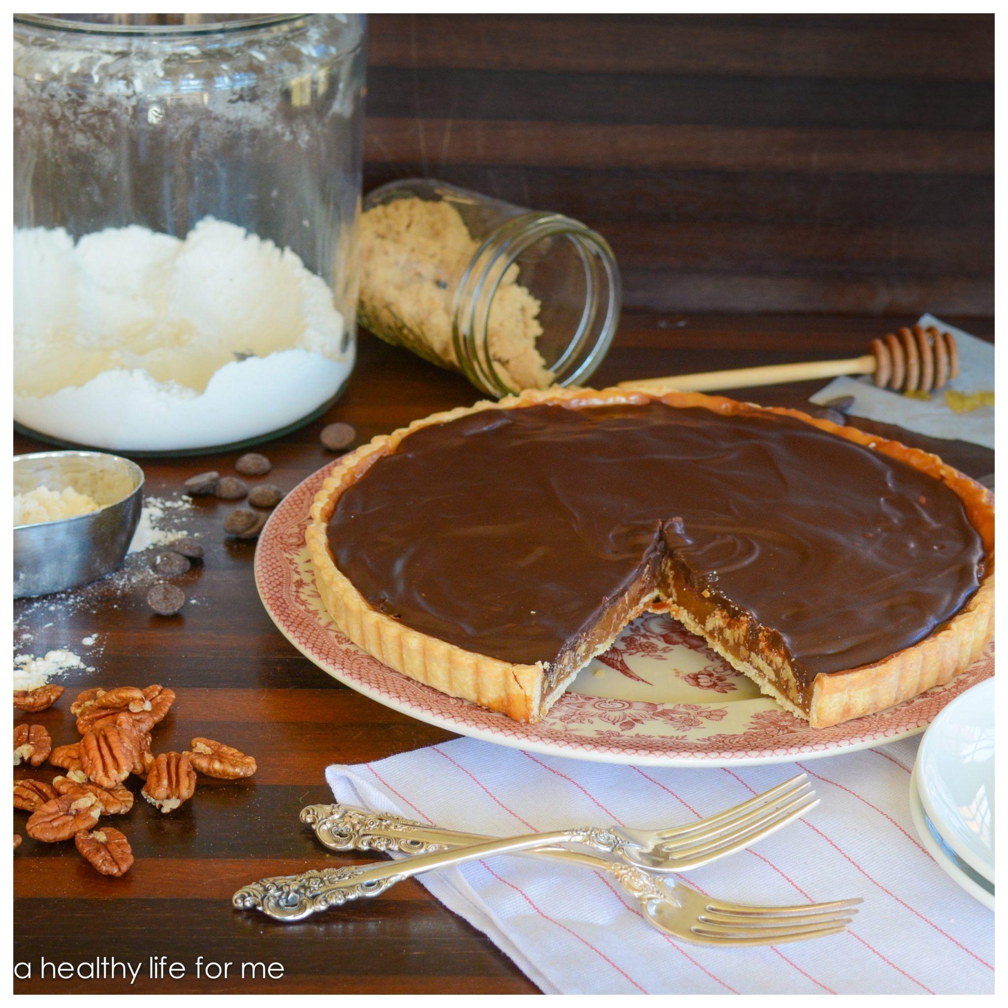 Chocoalte Honey Pecan Tart