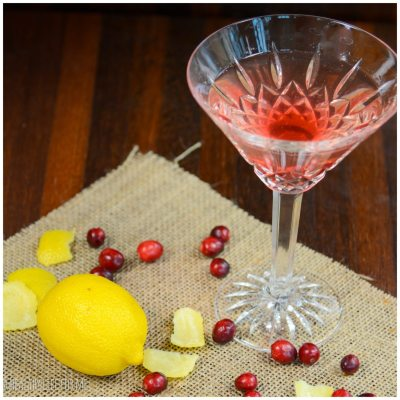 Cranberry Limoncello Martini