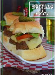 Buffalo Sliders are a Healthy way to enjoy your burger