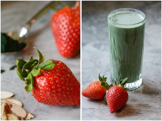 Strawberry Almond Green Smoothie 2