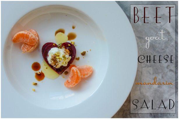 Beet Goat Cheese Mandarin Salad Recipe Valentine's Day