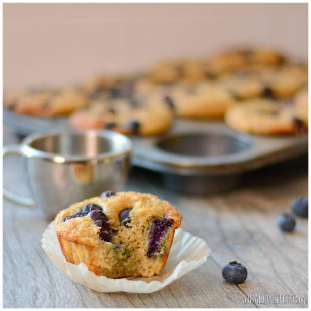 Blueberry Protein Muffins low calorie gluten free recipe