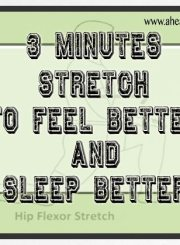 3 minute stretch to feel better and sleep better