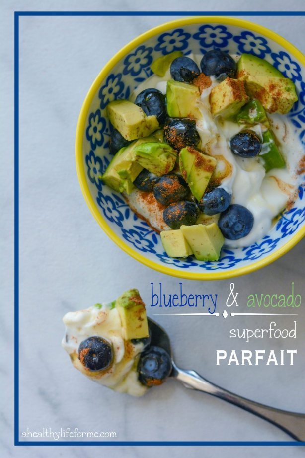 Blueberry Avocado Honey and Cinnamon Superfood Parfait