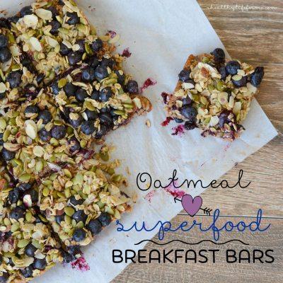 Oatmeal Superfood Breakfast Bars Healthy Treat Recipe   ahealthylifeforme.com
