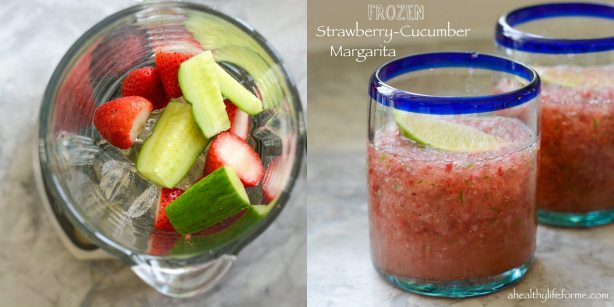 Frozen Strawberry Cucumber Margarita