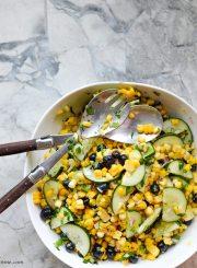 Blueberry Corn Salad Healthy Recipe Clean Eating   ahealhtylifeforme.com
