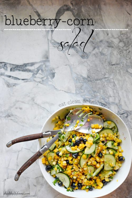 Blueberry Corn Salad Recipe | ahealthylifeforme.com