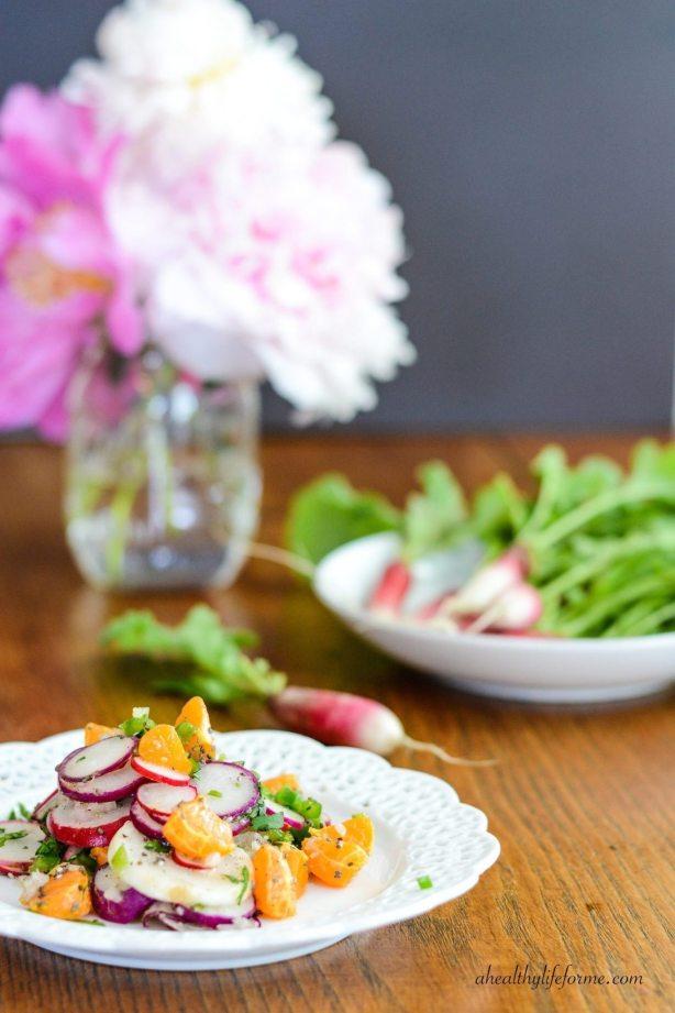 Orange and Radish Salad | ahealthylifeforme.com