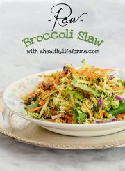 Raw Broccoli Slaw Recipe | ahealhtylifeforme.com