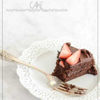 Strawberry Chocolate Paleo Cake