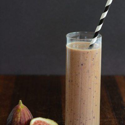 Chocolate Fig Protein Smoothie