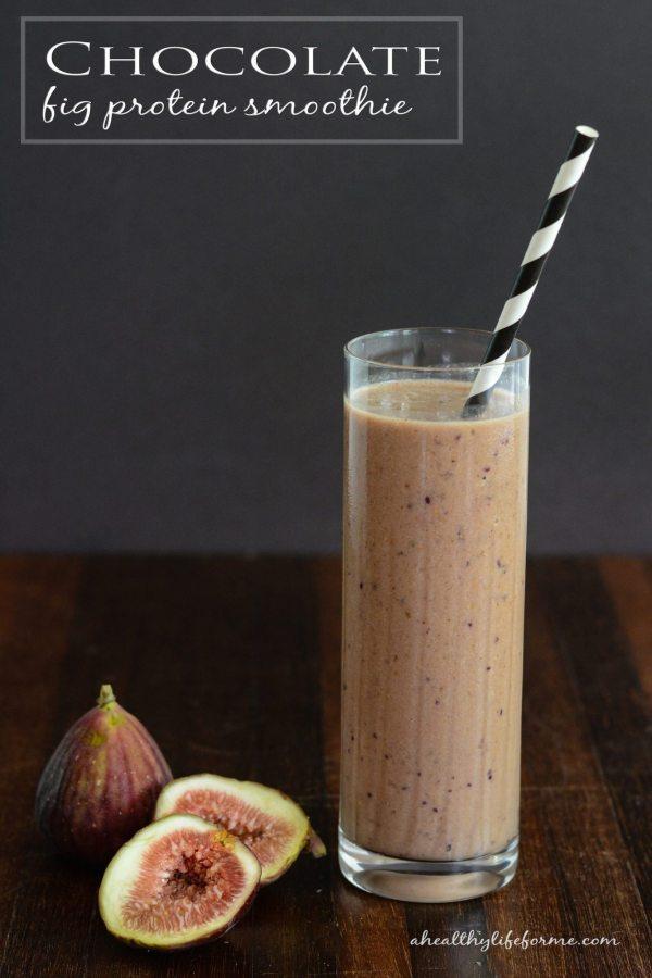 Chocolate Fig Protein Smoothie Recipe | ahealthylifeforme.com