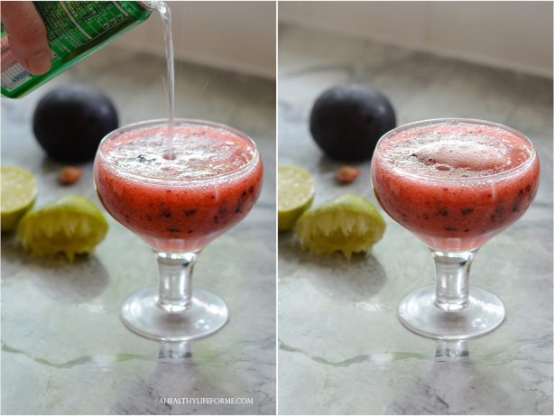 Plum Pop Cocktail Recipe | ahealthylifeforme.com