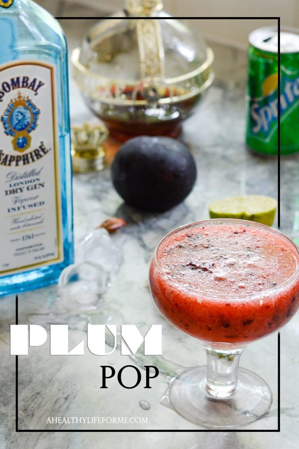 Plum Pop Cocktail Recipe | ahealthylifeforme.com