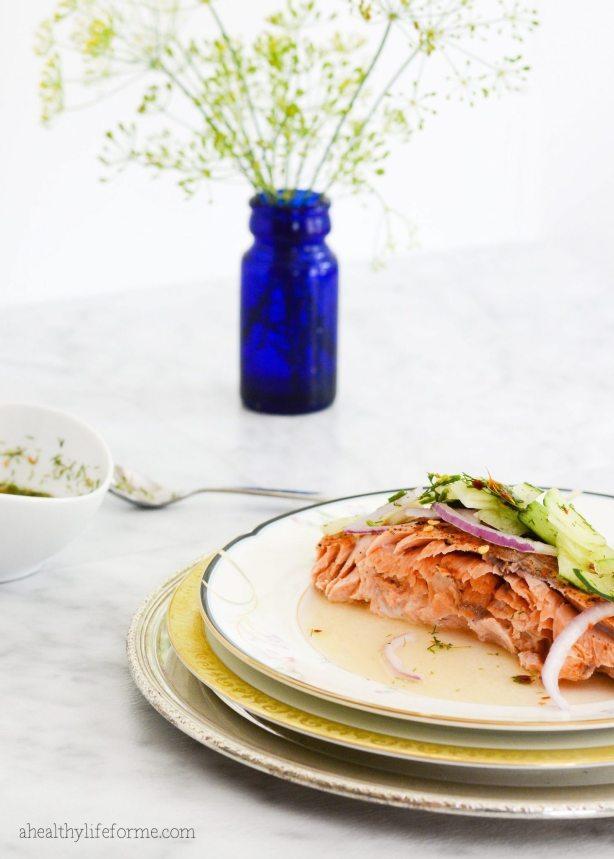 Baked Salmon Cucumber Relish Recipe   ahealthylifeforme.com