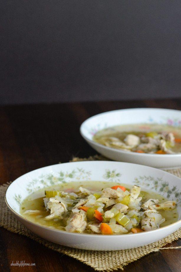 Paleo Gluten Free Chicken Soup Recipe | ahealthylifeforme.com