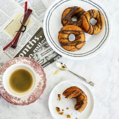 Paleo Pumpkin Chocolate Donuts