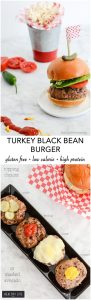 Turkey Black Bean Burger Gluten Free Low Calorie High Protein Recipe | ahealthylifeforme.com