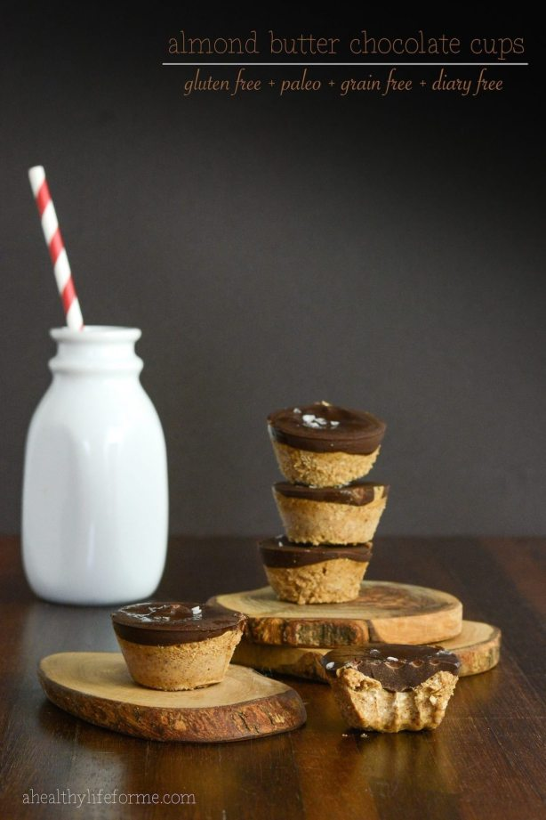 almond butter chocolate cups recipe gluten free paleo grain free dairy free | ahealthylifeforme.com