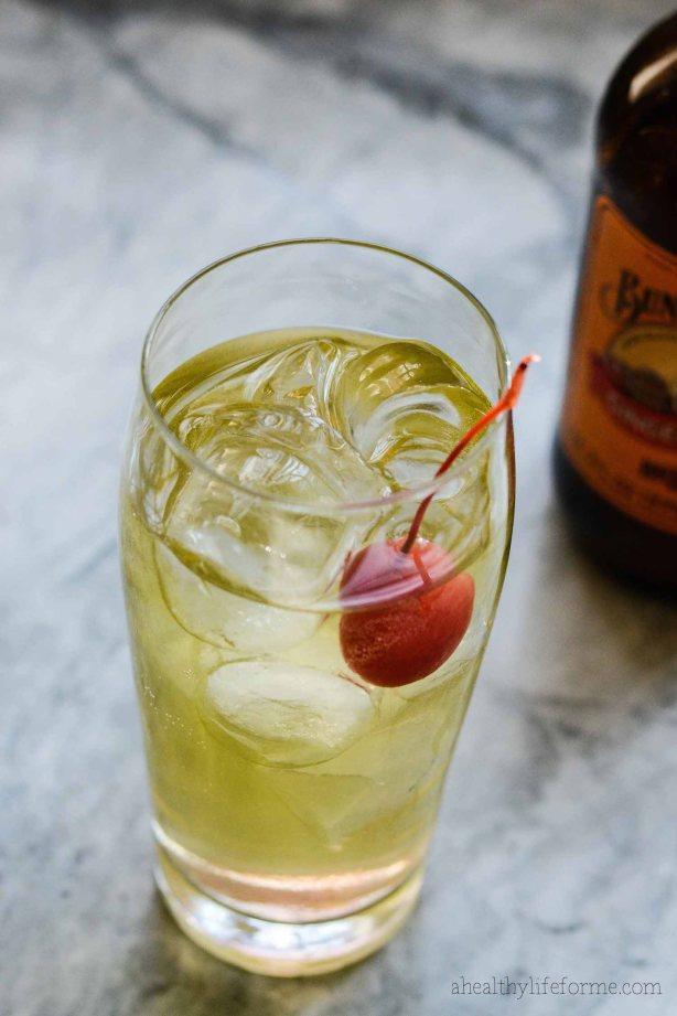 Apple Ginger Sparkle Cocktail Recipe | ahealthylifeforme.com