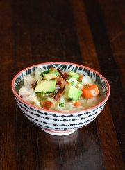 cauliflower chicken chowder soup recipe gluten free, grain free, dairy free paleo and whole 30