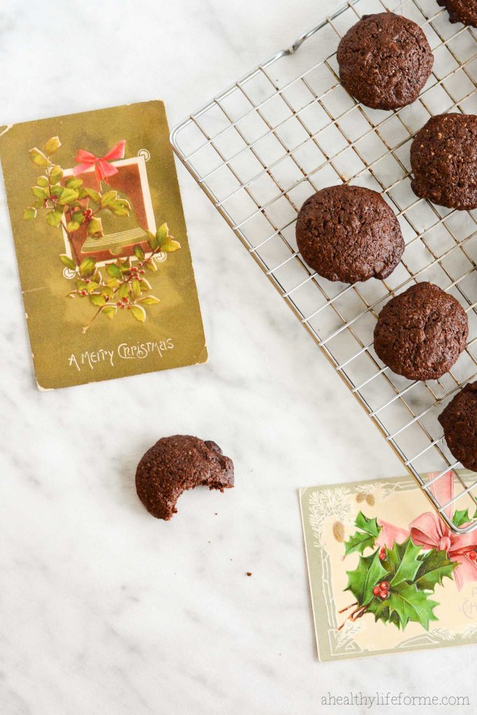 Gluten Free Chocolate Peppermint Cookie Recipe | ahealthylifeforme.com