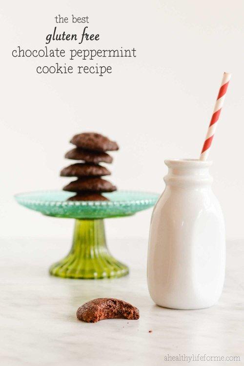 Gluten Free Chocolate Peppermint Cookie Recipe   ahealhtylifeforme.com