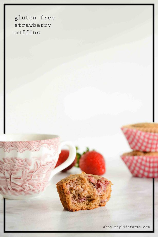 Gluten Free Strawberry Muffin Recipe that is grain free, dairy free, paleo, delicious and moist | ahealthylifeforme.com