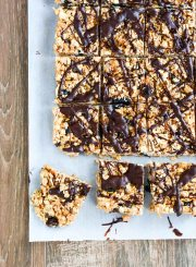 Healthy Rice Crispy Treats are gluten free and dairy free | ahealthylifeforme.com