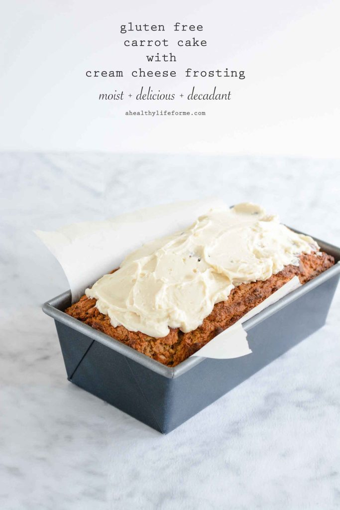 Gluten Free Carrot Cake with Cream Cheese Frosting Recipe | ahealthylifeforme.com