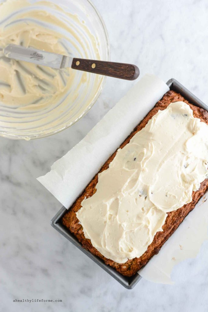 Gluten Free Carrot Cake with Cream Cheese Frosting Recipe   ahealthylifeforme.com