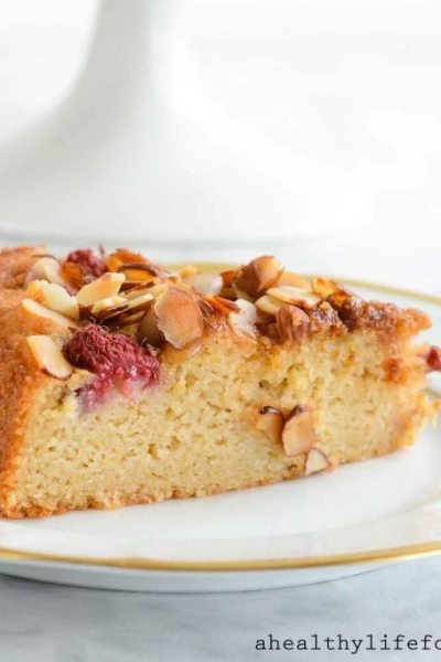 Gluten Free Raspberry Almond Breakfast Cake