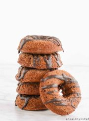 Gluten Free Triple Chocolate Cinnamon Donut Recipe | ahealthylifeforme.com