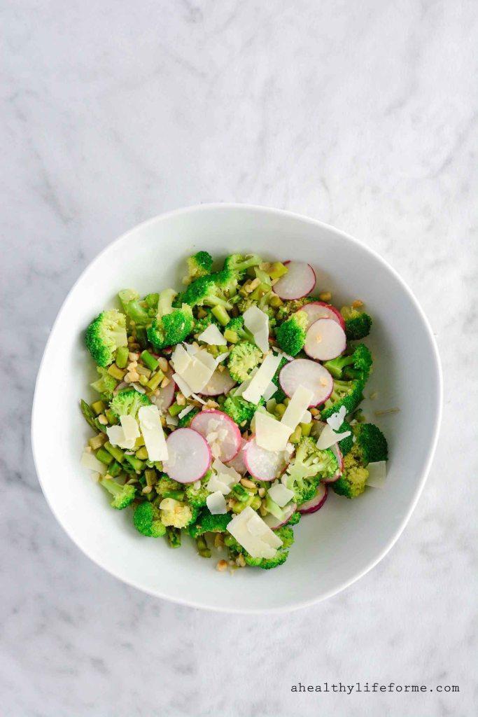 Asparagus Broccoli Salad Gluten Free Healthy Recipe | ahealthylifeforme.com