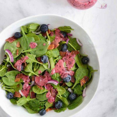 Blueberry Bacon Spinach Salad {paleo + gluten free}